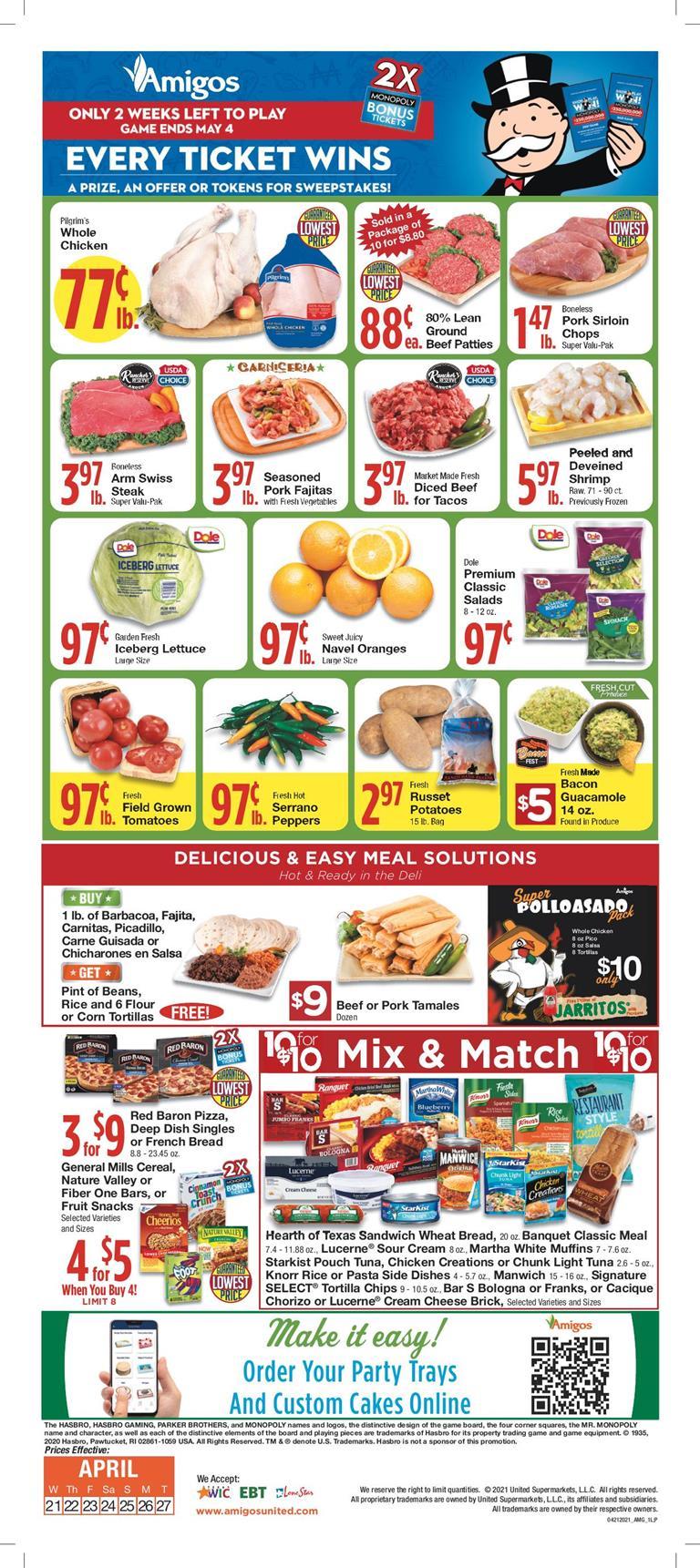 Amigos weekly ad