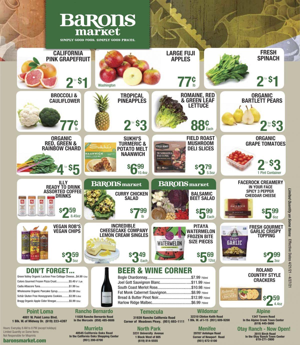 Barons market weekly ad