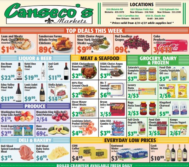 Canseco'S weekly ad