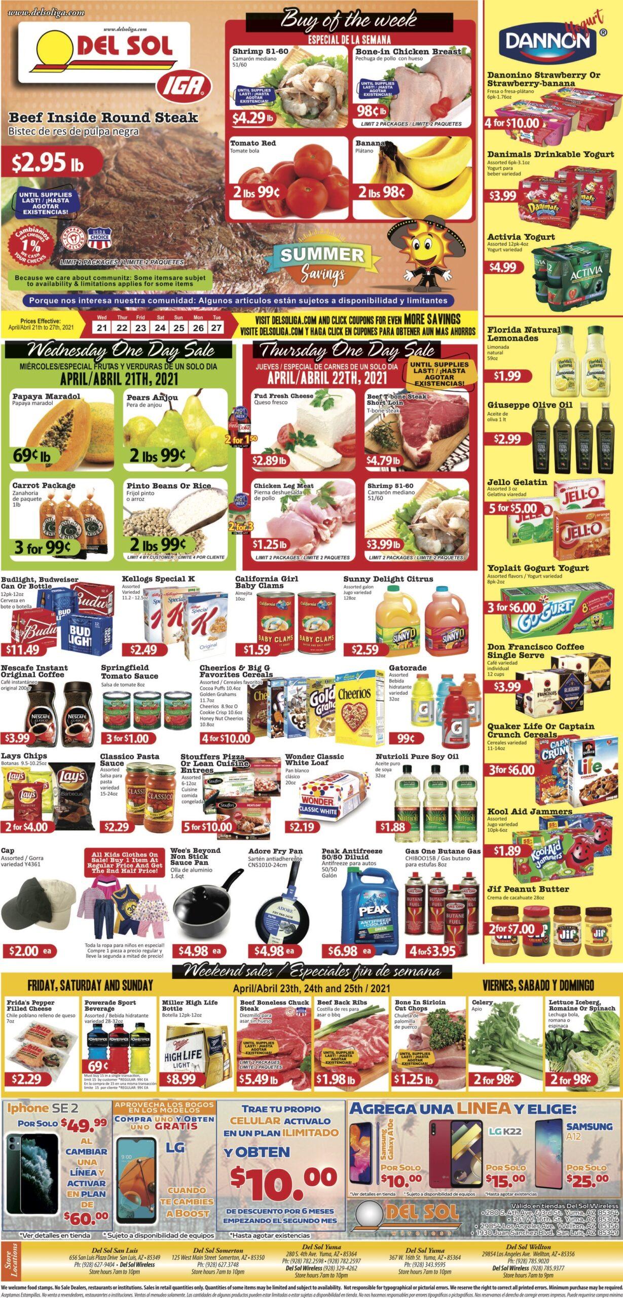 Del Sol Market weekly ad