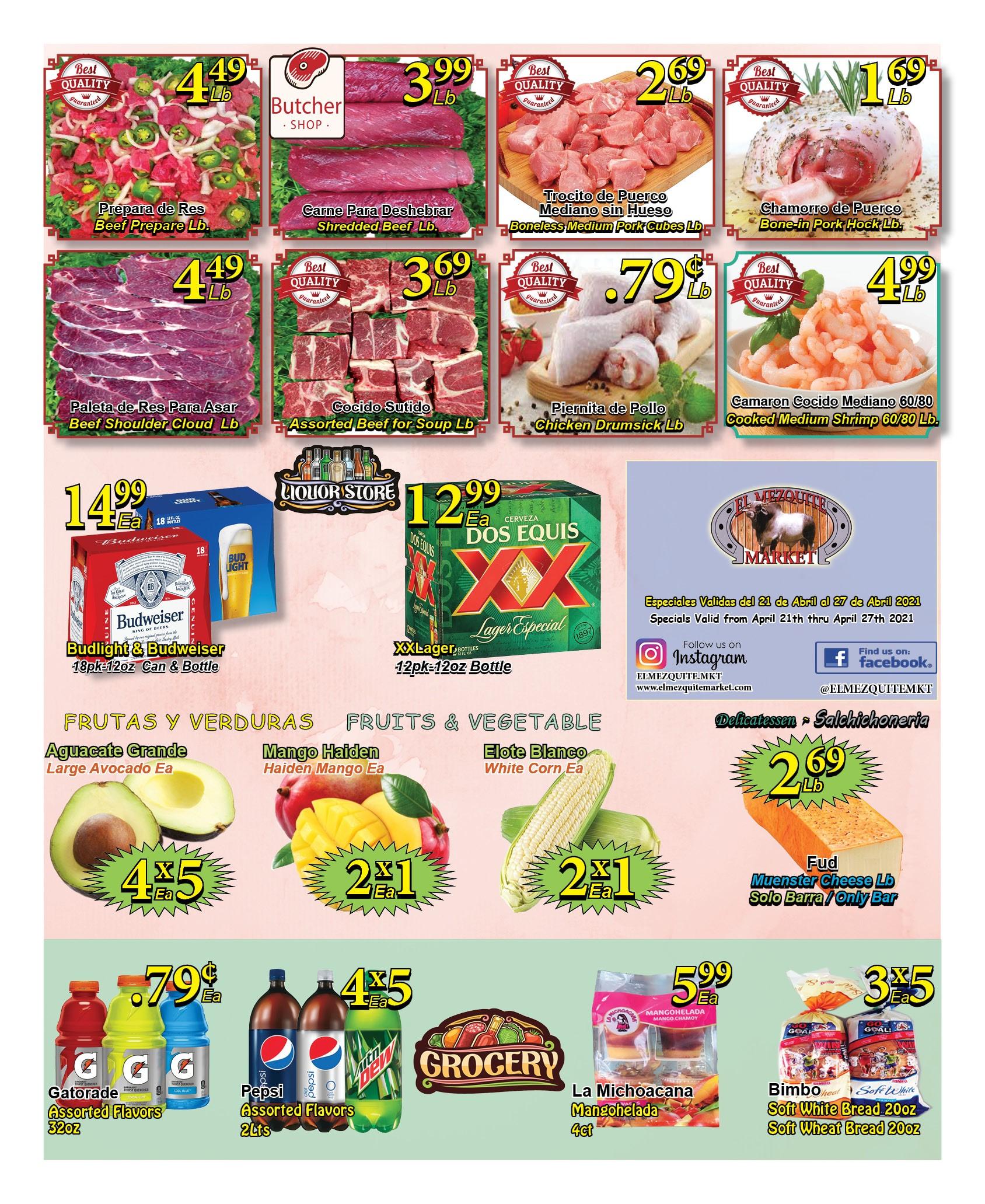 El Mezquite Market weekly ad