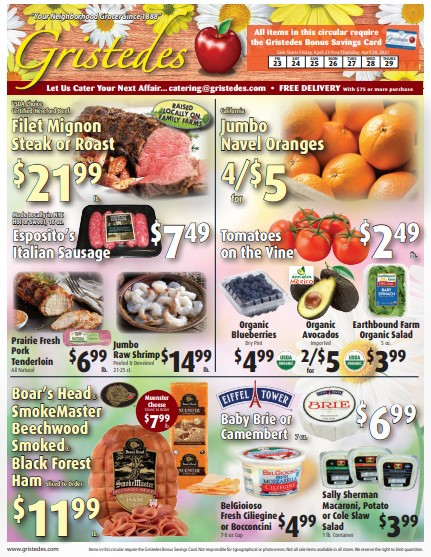 Gristedes weekly ad