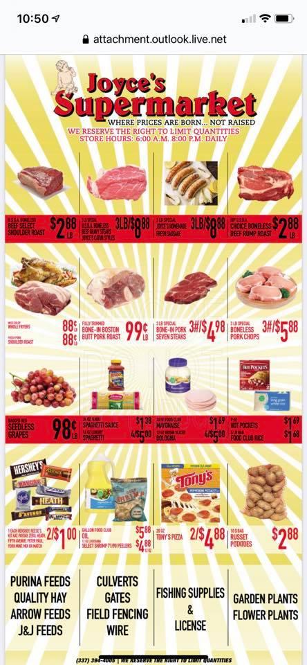 Joyces Supermarket weekly ad