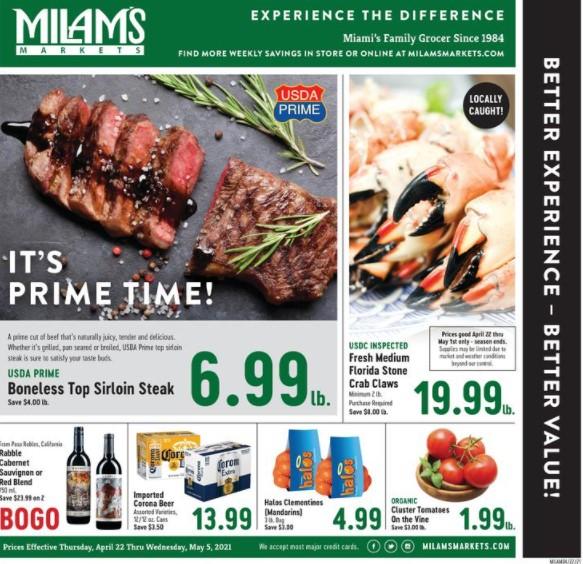 Milams weekly ad