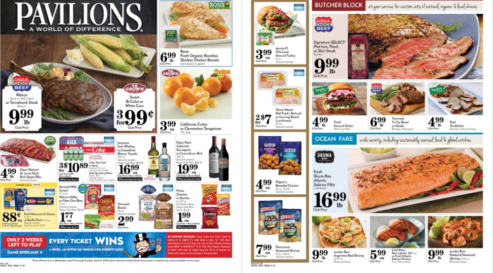 Pavilions weekly ad