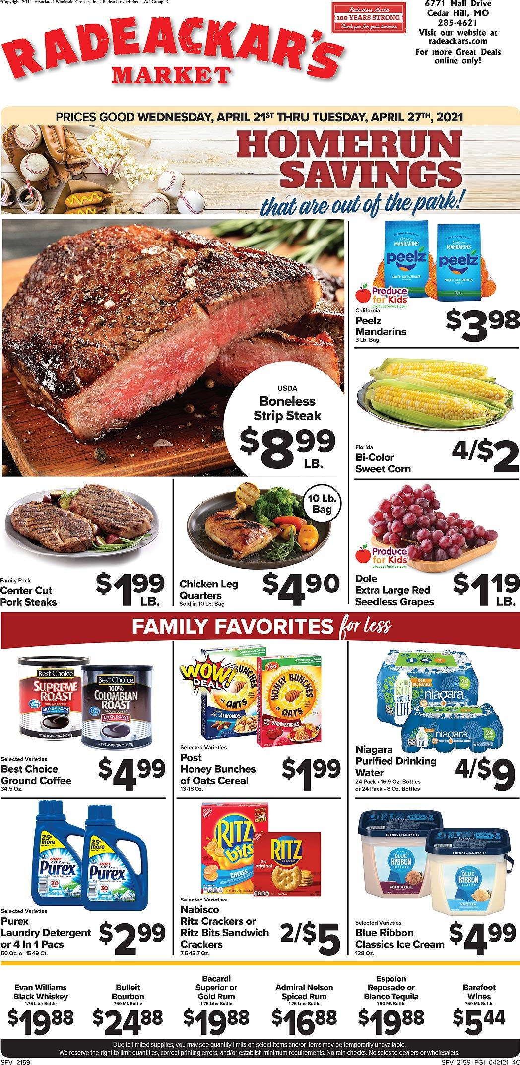Radeackars Market weekly ad
