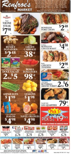 Renfroe'S weekly ad