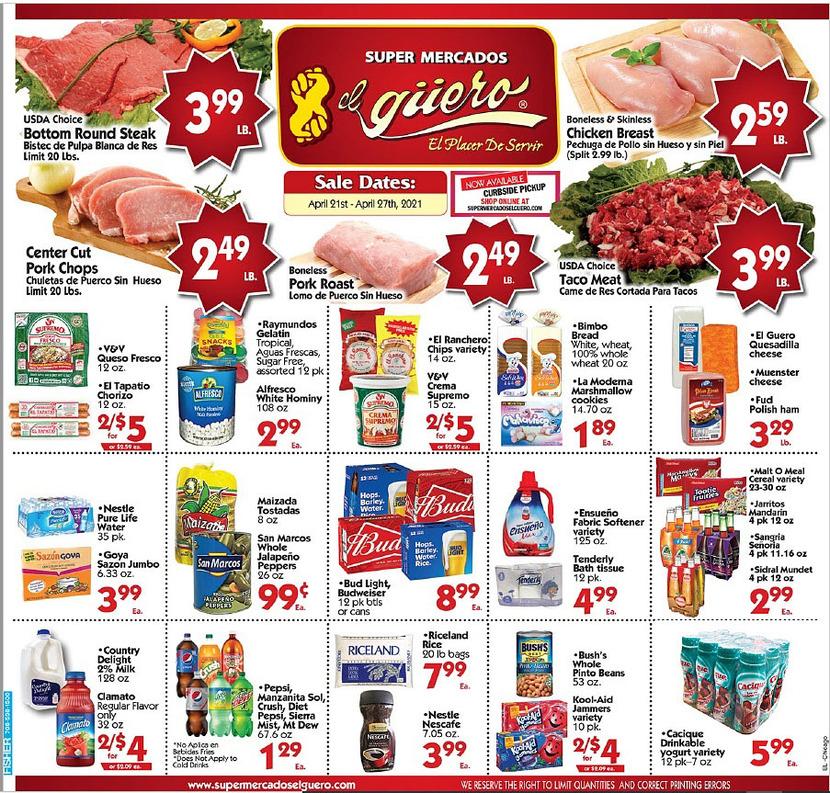 El Guero weekly ad