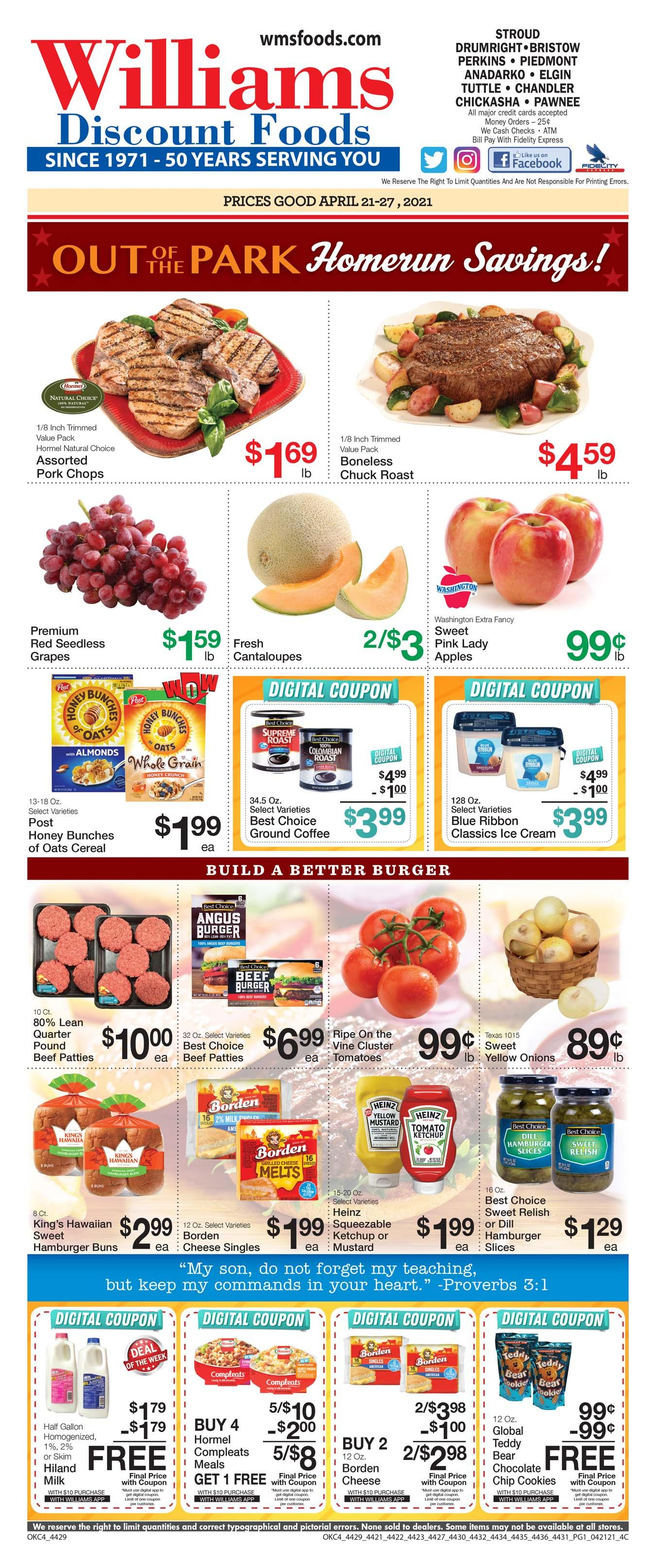 Williams Grocery weekly ad